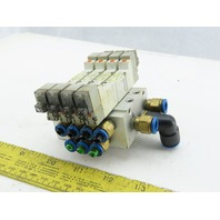 SMC 8Y3440-5L0Z Manifold Assembly W/4 Pneumatic Solenoid Valves