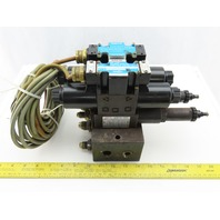 Nachi SL-G01-EX3-R-D-30 & SL-G01-EX3-GR-D2-31 Hydraulic Solenoid Valve Assembly