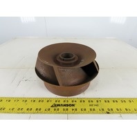 "12HH165 Steel Enclosed Pump Impeller 9"" OD x 4-5/8"" 1-3/4"" Shaft 5 Vane"