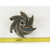 "Goulds Pump 103-612 13"" OD x 4"" 6 Vane Open Impeller CF8M 1-1/2""-8 Bore"