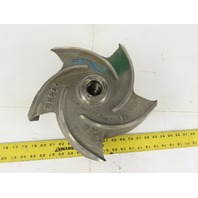 "Goulds Pump 1203-1909 12"" x 4-1/2"" 5 Vane Open Pump Impeller 1-1/2""-8"
