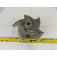 "Gould Pump 1203-63335 12"" x 4-1/2"" 5 Vane Open Pump Impeller 1-1/2""-8"