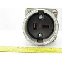 Pyle National 222-0A-4 600V Plug Receptacle 60A 2 Pole 3 Wire