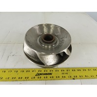 "SO32881 9-1/2"" x 4-1/2"" Stainless Steel 6 Vane Closed Centrifugal Pump Impeller"