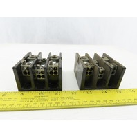 Square D LBA362104 #6-2/0 3 Pole Wire Branch Terminal Block #14-10 Lot Of 2