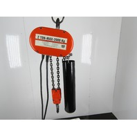 CM Lodestar Model R 2 Ton 4000LB Electric Chain Hoist 14' Lift 3 PH 480V 8FPM