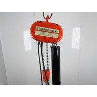 "CM Lodestar Model R 2 Ton 4000LB Electric Chain Hoist 15'6"" Lift 3PH 480V 8FPM"