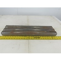 "24"" BF 2.19"" OD 21-13/16"" Face 3/4"" Hex Axle Gravity Conveyor Roller Lot Of 3"