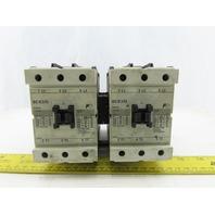 Fuji SC-E3/G 600V 100A Contactor 24VDC Coil Lot Of 2