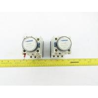 Schneider CAD50 LA3DR2 600V Contactor W/ 0.1-30 Sec. Off Delay Timer Lot Of 2