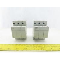 Siemens 3NW7 033 3 ole Class CC Fuse Holder 600V 30A Lot Of 2