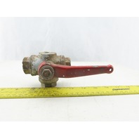 """PN40 11A Stainless Steel 3 Way Ball Valve With Shutoff 3/4"""" NPT"""