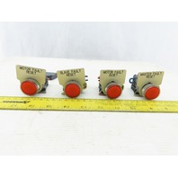 Telemecanique ZBV-G4 NO NC Contacts LED Illuminated RED Switches Lot of 4