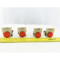 Telemecanique ZBV-G4 LED RED Pilot Light Status Indicator Lot OF 4