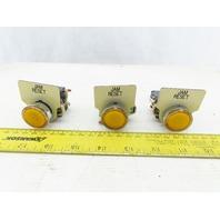 Telemecanique ZBV-G5 LED Amber Pilot Light Status Indicator Push Button