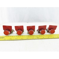 Telemecanique ZBE-102 Machine Stop Red Push Button NC Contact Lot Of 5