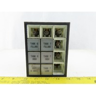 Idec SLC30N Annunciator Panel 4 Rows of 3 Lighted Control Panel