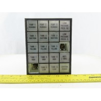 Idec SLC30N Annunciator Panel 5 Rows of 4 Lighted Control Panel
