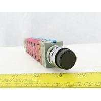 Idec LR48366 6 Relay 1N.O 1N.C W/Black Push Button