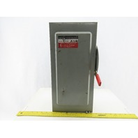Cutler Hammer DG323NGB Type 1 100A 240V Fusible Disconnect Safety Switch