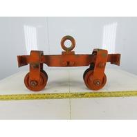 "Cast Iron Push/Pull Single Girder 2"" Beam Trolley"