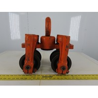 "Y58 Cast Iron Push/Pull 4"" Wheeled Beam Trolley"