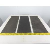 "30"" Interwoven Rough Conveyor Belt Splice Section 12"" Lot Of 3"