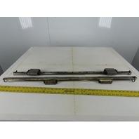 "THK UN0A6 HSR25 25mm Linear Ball Bearing Guide Rail 39-1/4"" OAL Lot Of 2"