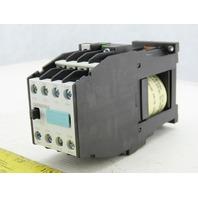 Siemens 3TH42 44-0BB4 Control Relay 44E 4N.O 4N.C 24VDC DIN Rail Mount