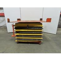 "4000Lb Pneumatic Scissor Lift /Turn Table 72x56"" 12-1/2"" to 43-1/2"" High"