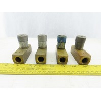 "Parker F600B Hydraulic Valve 2000PSI Lot of 4 1/4"" NPT"