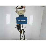 Demag DKST 5-1000 2200Lbs. Capacity 1.1R 2/1 11' Travel 16FPM 460V Chain Hoist