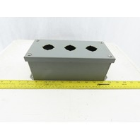 """Square D 3 Hole Box 1 Row Vertical 9"""" Long  4"""" Wide 3 1/4"""" Deep"""