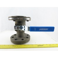 "Jamesbury 730S312236XTZ1 2"" 7300 Series 750PSI Flange Stainless Steel Ball Valve"