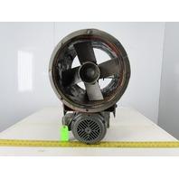 "Dayton 4C659 1/2Hp 1745RPM 3Ph 208-230/460V 12"" Tubeaxial Exhaust Fan"