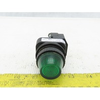 Allen Bradley 800H-PRH16G/F LED Green Pilot Light 120V Series F