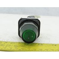 Allen Bradley 800T-QH24G/U LED Green Pilot Light 24VDC Series U