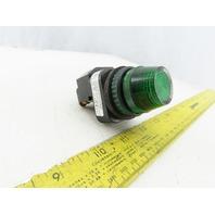 Allen Bradley 800H-PRH16R/F LED Green Pilot Light 120V Series F
