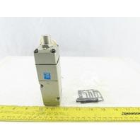 SMC NVS4114-0009F 4 Port 2 Position Single Solenoid Pneumatic Valve 115V Coil
