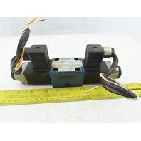 Rexroth 4640865 4/3 Position Double Solenoid  Valve 48VDC