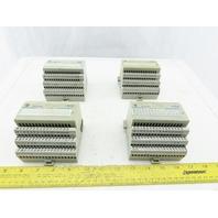 Allen Bradley 1794-IB16/A I/O Module 24VDC Series A W/1794-TB3/A Base Lot of 4