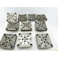 "EDM Tooling 5""x5""x1"" Aluminum Adapter Plate Lot of 10"
