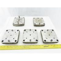 "EDM Tooling 5""x5""x1"" Aluminum Adapter Plate Lot of 5"