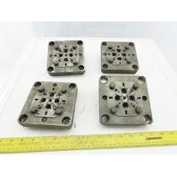"EDM Tooling 5""x5""x1"" Aluminum Adapter Plate Lot of 4"