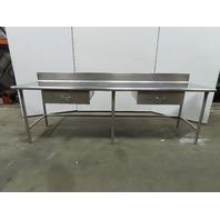 "Stainless Steel Work Table 108""x30"" Food Prep Utility Bench W/6"" Back Splash"