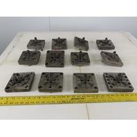 "EDM Tooling 5""x5""x1"" Aluminum Adapter Plate W/Spigot Lot of 12"