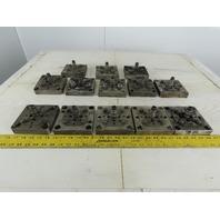 "EDM Tooling 5""x5""x1"" Aluminum Adapter Plate W/Spigot Lot of 13"