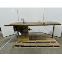 "Powermatic Model 66 10"" 230/460V 3Ph 5Hp Left Tilt Table Saw"