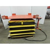 "HerKules 6000Lb Capacity Pneumatic Scissor Lift  51""x51"" Turn Table 7-32"" Height"