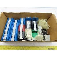Allen Bradley 1492-HM1 Terminal Block Assorted Colors End Blocks Lot Of 105
